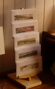 cartes originales  créations sur présentoirs